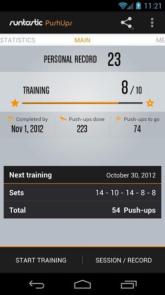 Runtastic Push Ups Workout PRO 1