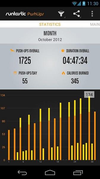 Runtastic Push Ups Workout PRO 2