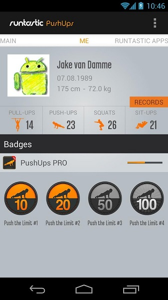 android Runtastic Push Ups Workout PRO