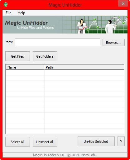دانلود Magic UnHidder v1.0 - نرم افزار نمایش و بازیابی اطلاعات مخفی شده توسط ویروس ها