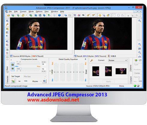 دانلود Advanced JPEG Compressor 2013 - قوی ترین نرم افزار کاهش حجم عکس ها بدون افت کیفیت