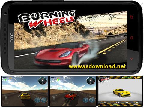 دانلود بازی مسابقه ماشین سواری Burning Wheels 3D Racing برای آندروید