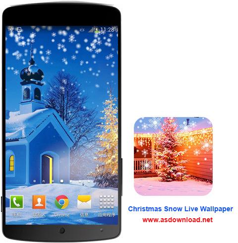 Christmas Snow Live Wallpaper- دانلود والپیپر زنده برف کریسمس برای آندروید