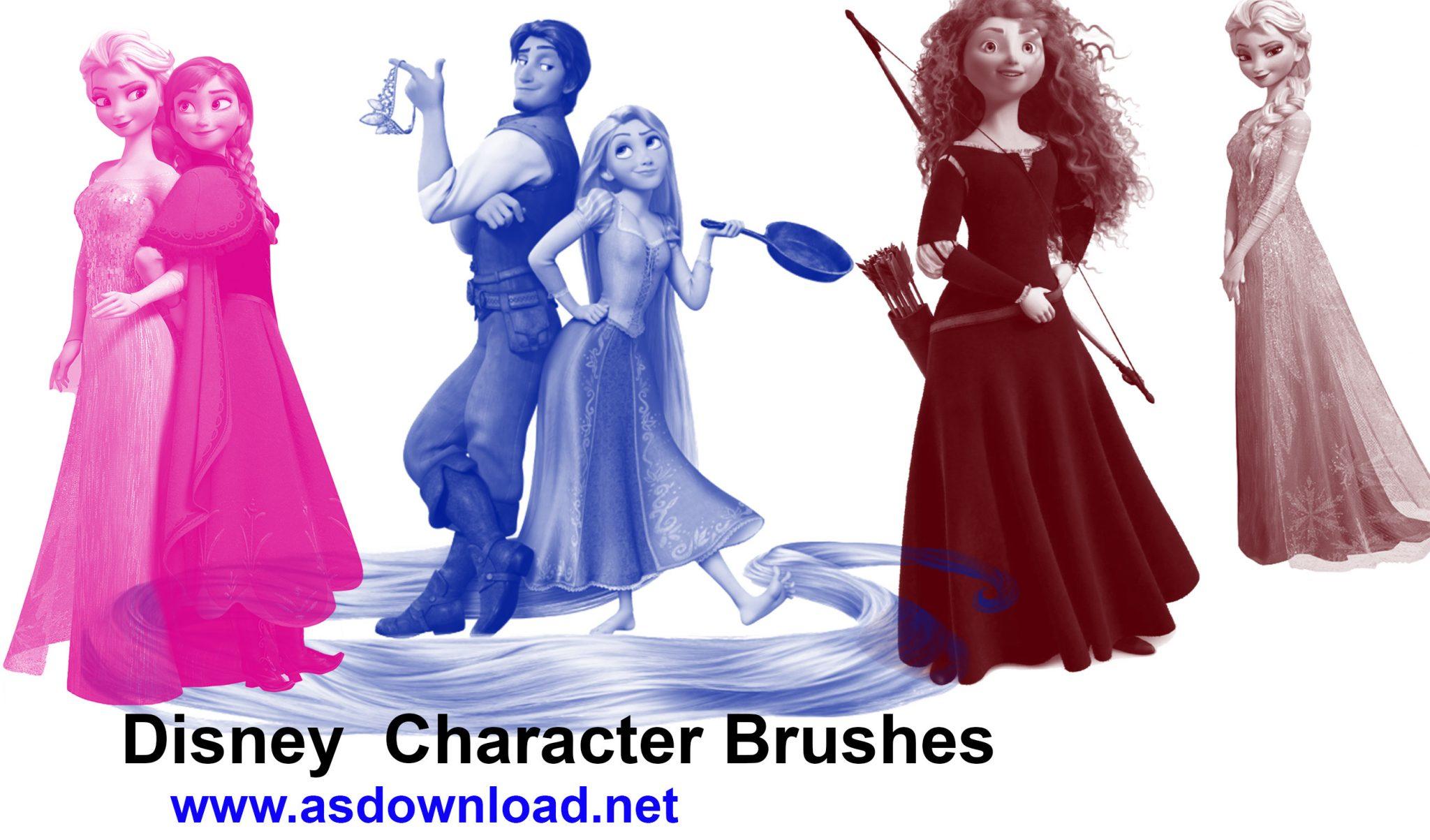 Character Brushes- دانلود قلم مو شخصیت های کارتونی برای فتوشاپ