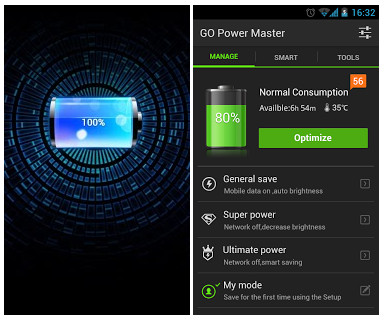دانلود نرم افزار کاهش مصرف باطری آندروید GO Battery Saver & Widget Premium 4.21