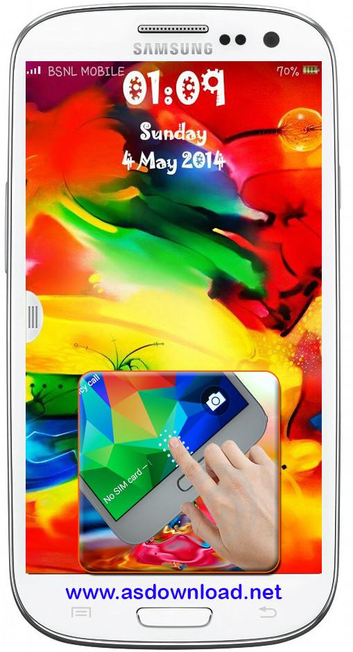 دانلود قفل با اثر انگشت برای سامسونگ j7 Galaxy S5 Fingerprint Lock- قفل آندروید با اثر انگشت