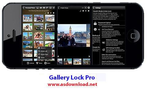 دانلود نرم افزار مخفی کردن عکس ها و فیلم ها برای آندروید Gallery Lock Pro(Hide picture) 4.7.3