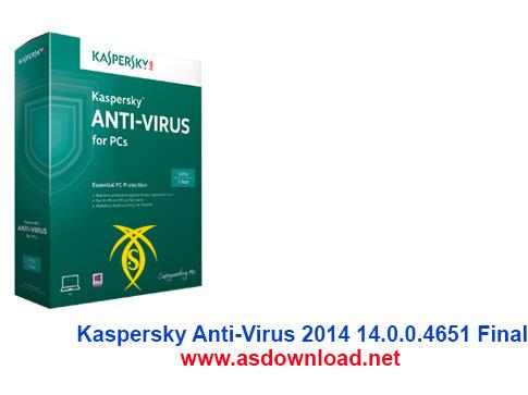 دانلود آنتی ویروس کسپراسکای 2014 نسخه نهایی- Kaspersky Anti-Virus 2014 14.0.0.4651 Final