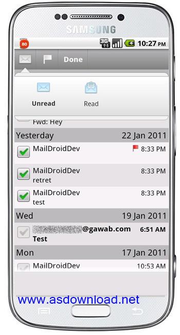 MailDroid Pro 3.33-دانلود نرم افزار مدیریت ایمیل با گوشی آندروید