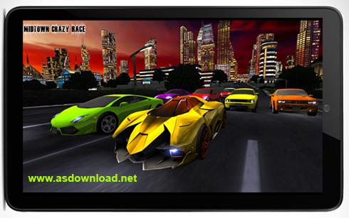 دانلود Midtown crazy race بازی مسابقه ماشین + فایل دیتا
