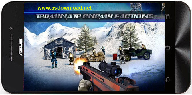 Mountain sniper 3D: Frozen frontier. Mountain sniper killer 3D-بازی جنگی برای آندروید