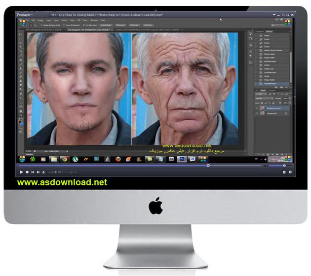 فیلم آموزش جوان سازی چهره با فتوشاپ cs6