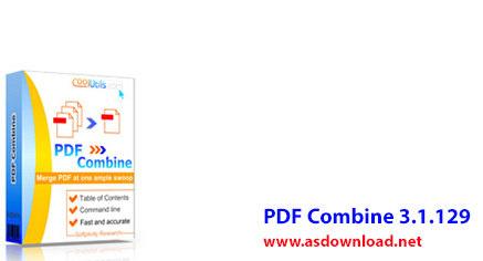 دانلود نرم افزار PDF Combine 3.1.129- ترکیب فایل های pdf