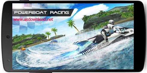 Powerboat racing-بازی مسابقه قایق سواری برای آندروید- چندنفره و بلوتوثی