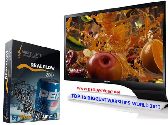 دانلود RealFlow 2013 v7.1.3.0152- نرم افزار شبیه سازی مایعات و انیمیشن