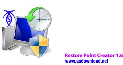دانلود نرم افزار بازگردانی ویندوز به زمان دلخواه- Restore Point Creator 1.6 Build 7 Final