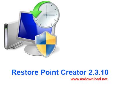 Restore Point Creator 2.3.10- بازگردانی کامپیوتر به زمان دلخواه