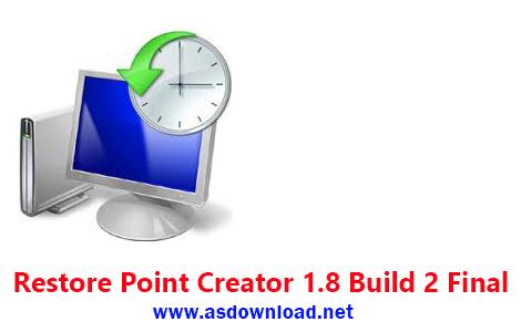 دانلود Restore Point Creator 1.8 Build 2 Final - نرم افزار بازگردانی کامپیوتر به زمان دلخواه