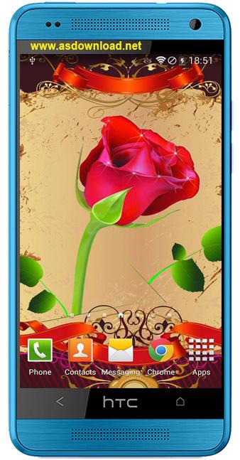 Rose Live Wallpaper-دانلود والپیپر زنده گل رز برای آندروید