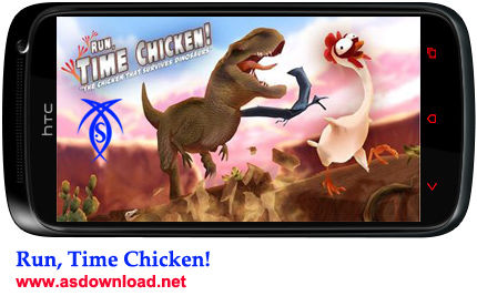 دانلود بازی مرغ زمان برای برای آندروید !Run, Time Chicken
