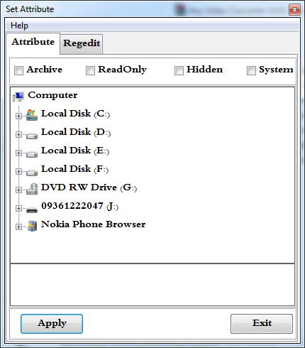 دانلود نرم افزار ترمیم فایل های مخفی شده توسط ویروس ها- SetAttribute