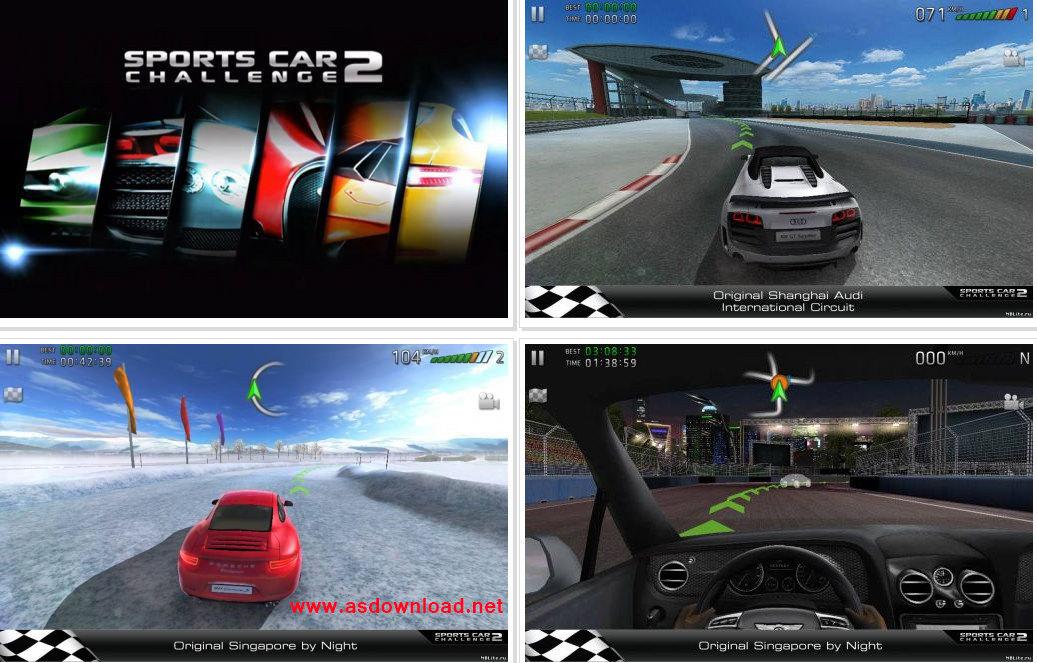 دانلود بازی مسابقه ماشین برای آندروید به همراه دیتا- Sports car challenge 2