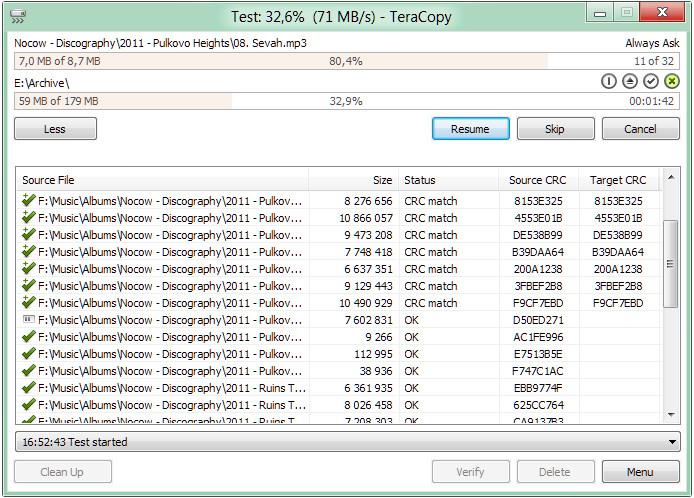 TeraCopyfor Microsoft Windows
