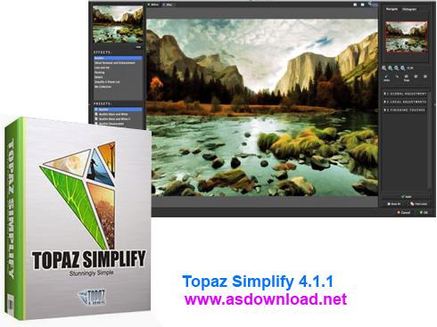 Topaz Simplify 4.1.1-پلاگین ایجاد تصاویر هنری برای فتوشاپ