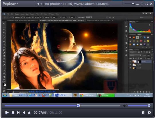 فیلم آموزش ایجاد تصاویر حرفه ای در فتوشاپ cs6