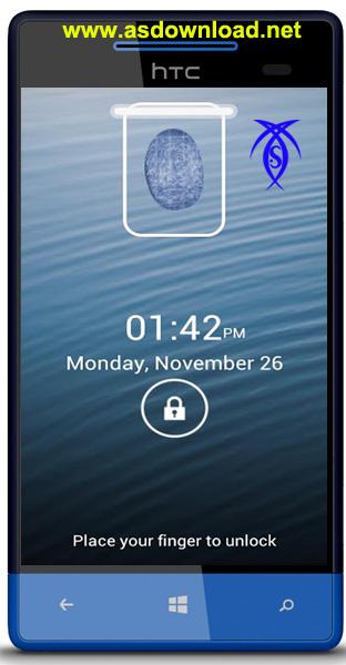 قفل گوشی آندروید با اثر انگلشت android Finger Print Scanner Lock