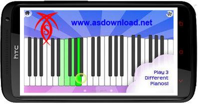 دانلود نرم افزار پیانو برای آندروید android Magic Piano 1.1.9