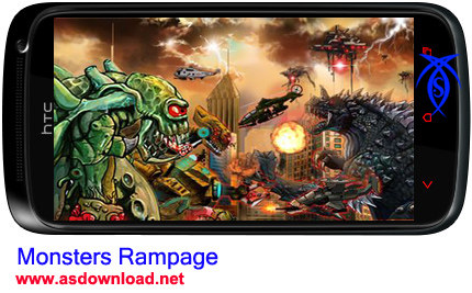 بازی جنگی داد و بیداد هیولا برای آندروید  Monsters Rampage