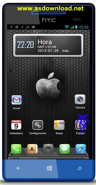 دانلود تم آیفون 5 برای آندروید android iPhone5 Theme
