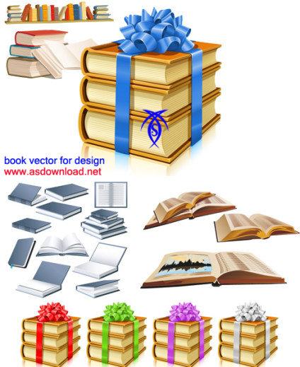 وکتور کتاب برای طراحی و گرافیک - book vectors
