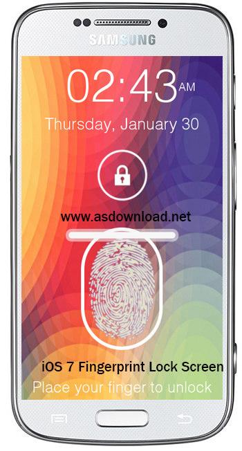 دانلود iOS 7 Fingerprint Lock Screen- قفل گوشی آندروید با اثر انگشت مشابه اپل