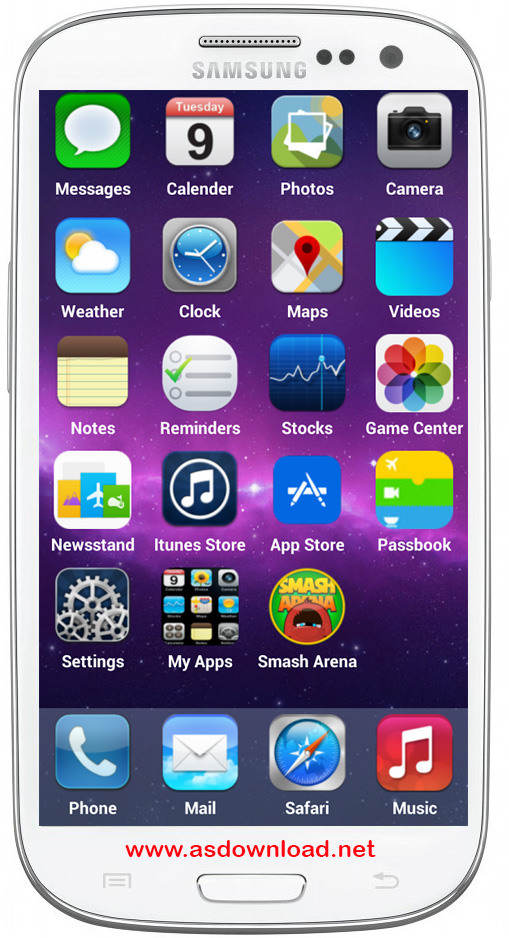 iOS 8 Launcher Concept برای آندروید