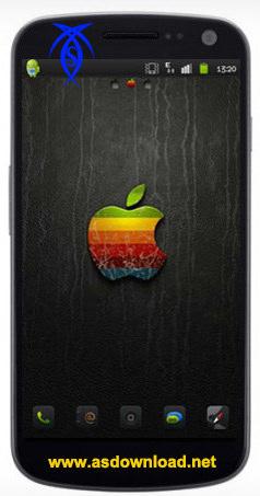 دانلود تم آیفون بلک برای آندروید iPhone Black Go Launcher Theme