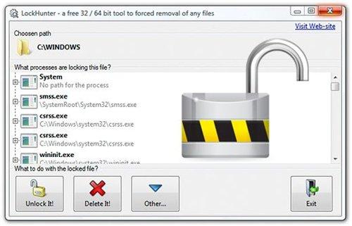 دانلود نرم افزار حذف فایل های قفل شده LockHunter