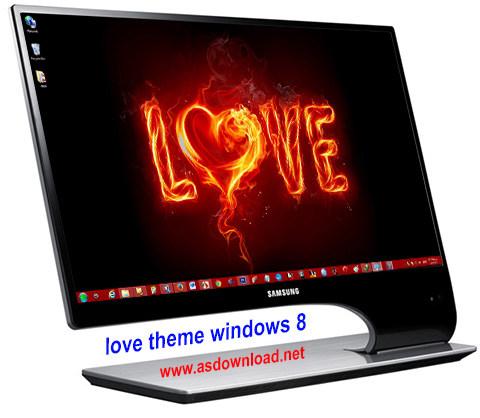 دانلود تم عشق برای ویندوز 8- love theme windows