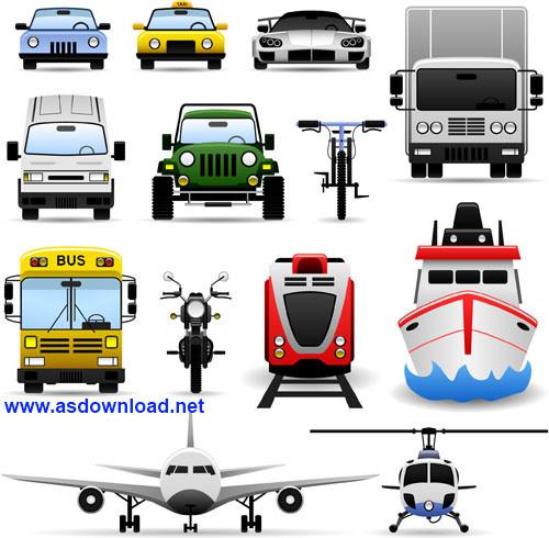 دانلود وکتور وسایل نقلیه برای طراحی- transport vector