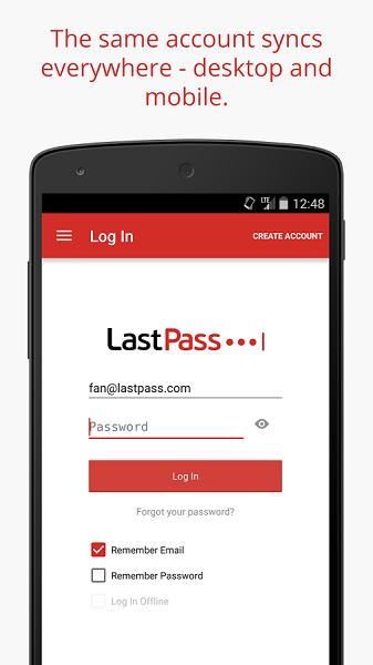 دانلود LastPass Password Manager v4.0.52 - نرم افزار ذخیره پسوردها برای اندروید
