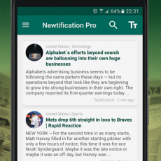 1 News by Notifications PRO android