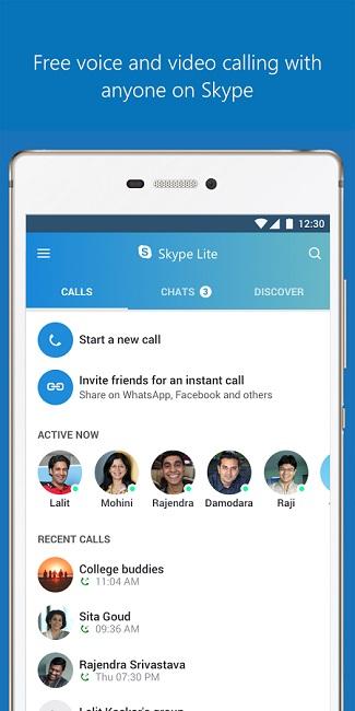 دانلود Skype Lite - اسکایپ لایت نسخه جدید و کم حجم