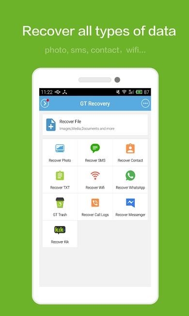 دانلود GT Data Recovery - نرم افزار بازیابی اطلاعات موبایل
