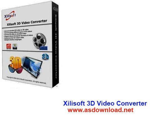 Xilisoft 3D Video Converter 1.1.0 Build 20130411 + keygen & patch