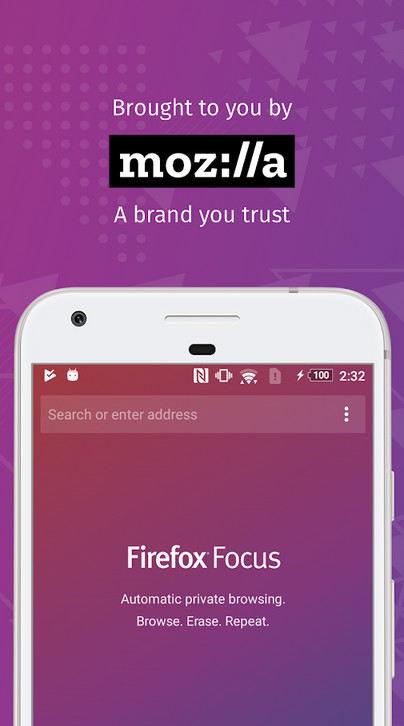 دانلود Firefox Focus: The privacy browser - مرورگر امن و ضد تبلیغاتی فایرفاکس فوکوس اندروید