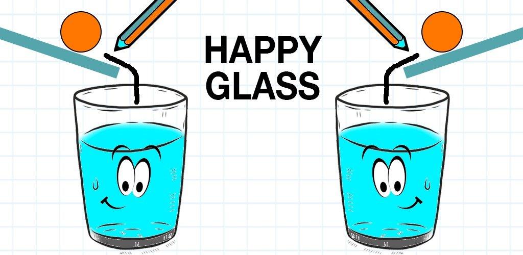 دانلود Happy Glass 1.0.11 بازی فکری و پازلی لیوان خندان اندروید