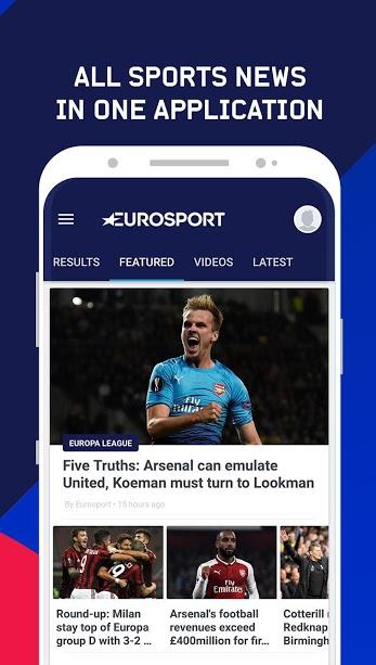 دانلود Eurosport 5.16.0 برنامه اخبار ورزشی پیشرفته یورو اسپرت اندروید + مود
