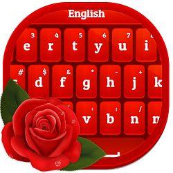 دانلود Red Rose Keyboard v4.1.0 - کیبورد رومانتیک برای اندروید!