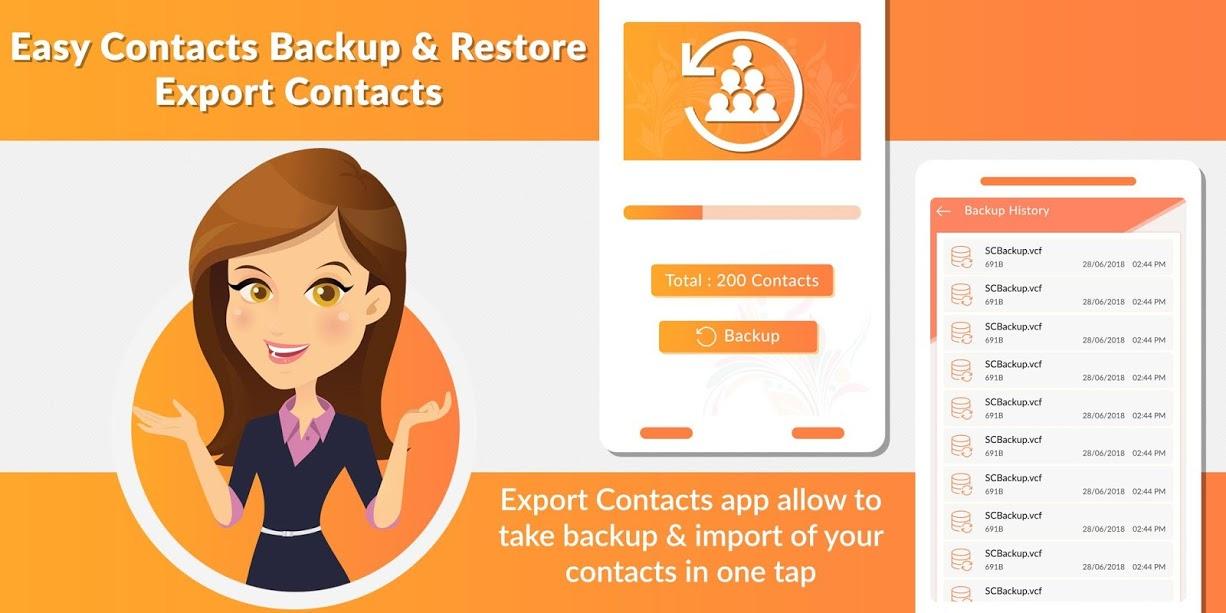 دانلود Easy Contacts Backup & Restore – Export Contacts برنامه پیشتیبان گیری مخاطبین اندروید